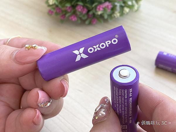 OXOPO 超高容量低自放 XN 系列鎳氫充電電池三號四號開箱 (俏媽咪玩3C) (5).png