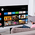 圖4) Sony BRAVIA A8H 系列採用Android 智慧影音平台,具備市面上最豐富的應用程式資源,透過中文語音搜尋可快速連線喜愛的電影、節目、遊戲或音樂等豐富娛樂內容。.jpg