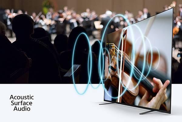 圖3) 螢幕就是揚聲器! BRAVIA A8H系列採用獨家平面聲場技術全面釋放動人聲勢,打造更貼近真實的視聽享受!.jpg