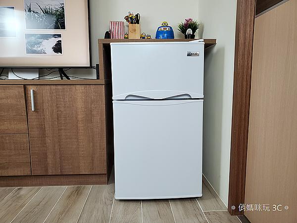 東元 TECO 100 公升雙門冰箱  R1001W 開箱 (俏媽咪玩3C) (34).png