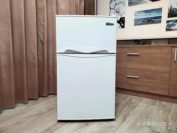 東元 TECO 100 公升雙門冰箱  R1001W 開箱 (俏媽咪玩3C) (5).png