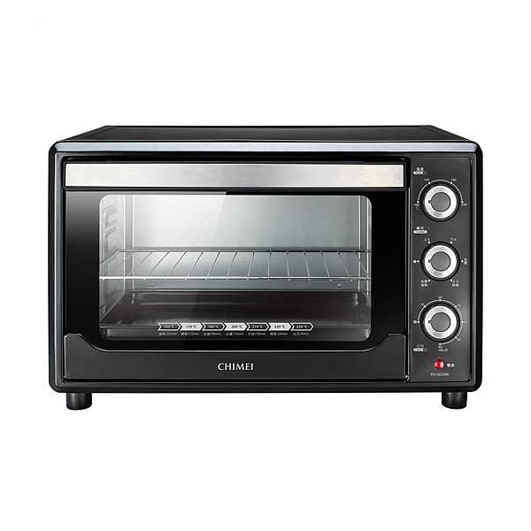 09-奇美32L家用旋風電烤箱以側旋風設計在烤箱內形成360度旋風對流,烘烤時能使熱流均勻分布,達到表面酥脆、油脂減少的效果,建議售價NT$2,488.jpg