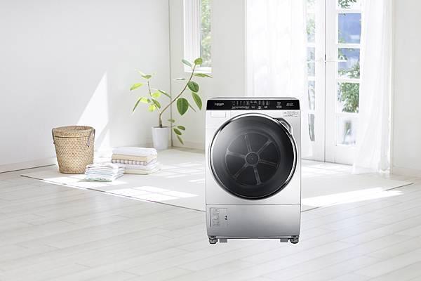 8-CHIMEI輕柔淨美滾筒洗衣機搭載全智能洗淨科技,能夠自動偵測衣物重量級環境溫度,調整最佳洗衣行程,冬季氣溫較低衣物油漬較難清洗,以柔力洗淨技術,使用30°、40°溫水浸泡,給予衣物猶如SPA般的溫柔呵護。.jpg