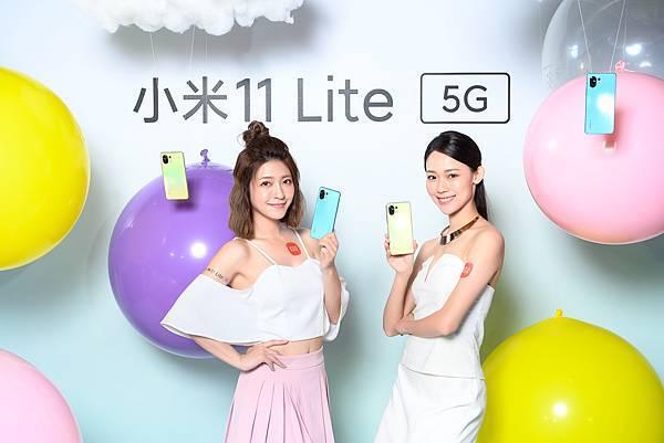 小米11 Lite 5G提供松露黑、柑橘黃、薄荷綠三種顏色,6GB + 128GB售價為新台幣$9,999元、8GB + 128GB售價為新台幣$10,999元,於5月13日晚間8點搶先開賣,於5月14日起於各大通路全面開賣。.jpg