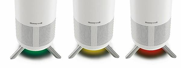 圖三:Honeywell小氛機內建 VOCs 偵測器,將空氣品質即時反映在燈色上,並直接在機身下方顯示,一眼現形,讓淨化效果變得更直覺、更安心!.jpg