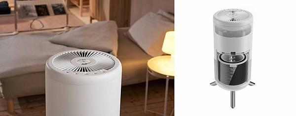 圖二:Honeywell小氛機結合精油槽設計,讓淨化香氛兩個願望一次滿足,360° 進氣設計加上一體環繞式雙層醫級HEPA濾網,為居家空氣進行最嚴格的把關。.jpg