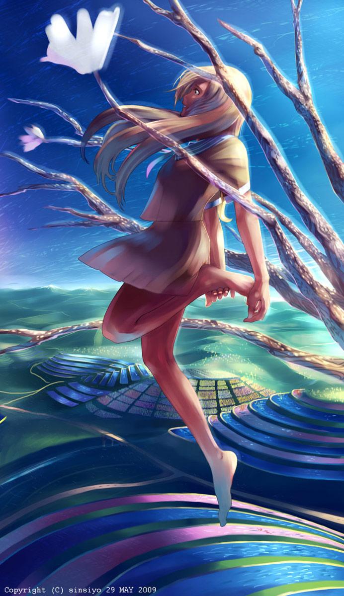梯田,水晶樹