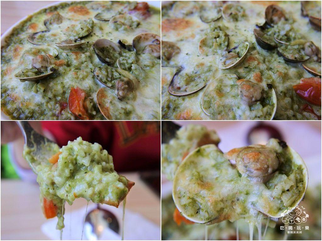 ... Pasta玩義麵』 店家推薦-辣味青醬蛤蠣焗烤燉飯 $228