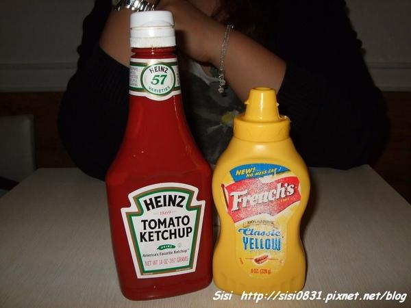 蕃茄醬和黃芥茉醬