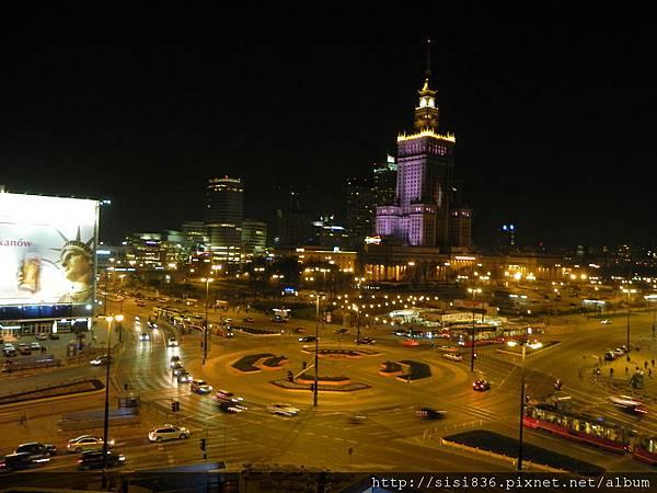華沙夜景-科學文化宮