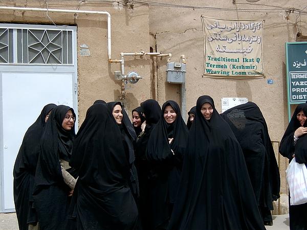 害羞的伊朗女生