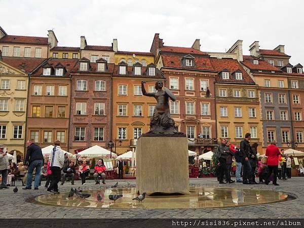 華沙市徽-美人魚銅像