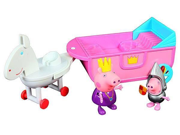 P7-(廠商賣品)-伯寶行-粉紅豬小妹皇家系列-可愛馬車組