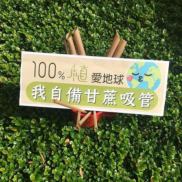 100%植甘蔗吸管團購