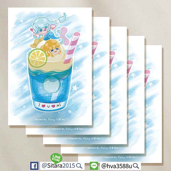 LINE - 美人魚童話明信片限量販售|售完不再版 Designed By 🌟Sitara