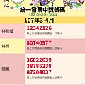 LINE - 2018(107年)3.4月統一發票中獎號碼