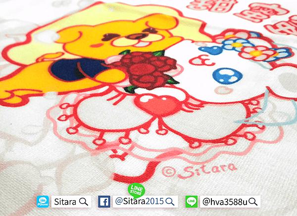 優雅客 - 🌟Sitara正版授權【獅子白小熊】療癒系純棉午睡枕+小毛巾實體照
