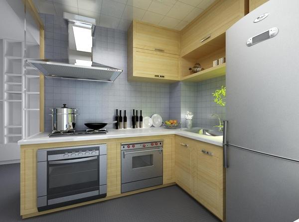 廚房,差不多是我要的感覺,不過櫃子應該不會用這個色