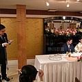 台灣學生代表:林さん婚禮致詞!