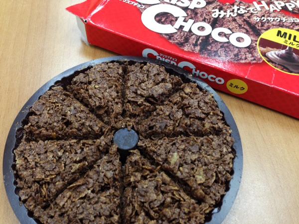 好像在吃巧克力pie,日清食品很好吃!