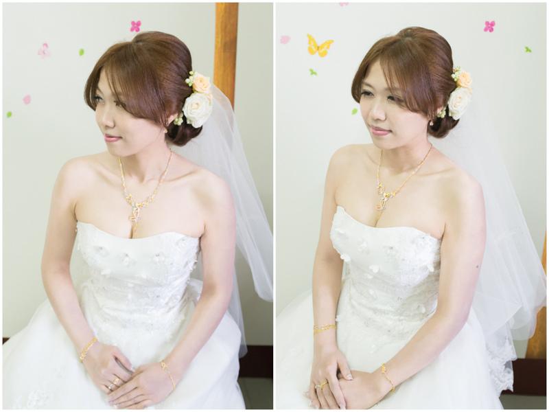 鮮花新秘Yuki│白紗造型│新娘包頭│鮮花造型│花圈造型│新娘頭花│新娘髮型│新娘頭紗