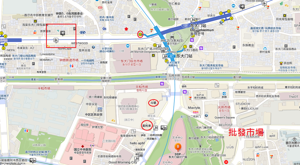J map