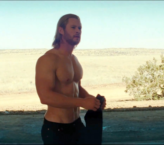 Chris hemsworth shirtless in Thor Movie.jpg