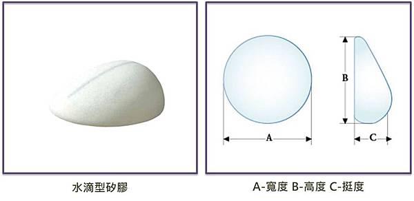 水滴形矽膠隆乳3