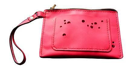 拉鍊粉紅小提包