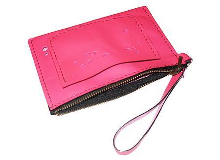 拉鍊粉紅小提包2