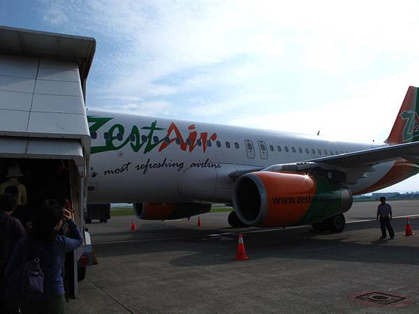 登機跟下飛機都很隨性!!