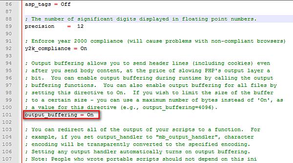 PHP程式出現Cannot modify header information的解決方法