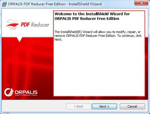 安裝PDF Reducer Free