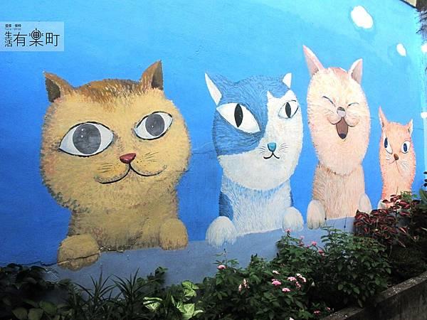 【新竹北區美食】四隻貓咖啡:隱藏版老宅手工甜點,無臉男蛋糕超推薦!超可愛壁畫