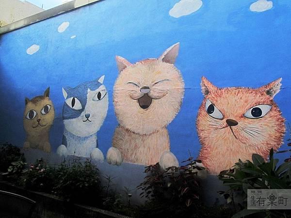 【新竹北區美食】四隻貓咖啡:隱藏版老宅手工甜點,無臉男蛋糕超推薦!四隻貓壁畫