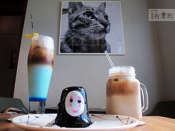 【新竹北區美食】四隻貓咖啡:隱藏版老宅手工甜點,無臉男蛋糕超推薦!超可愛餐點