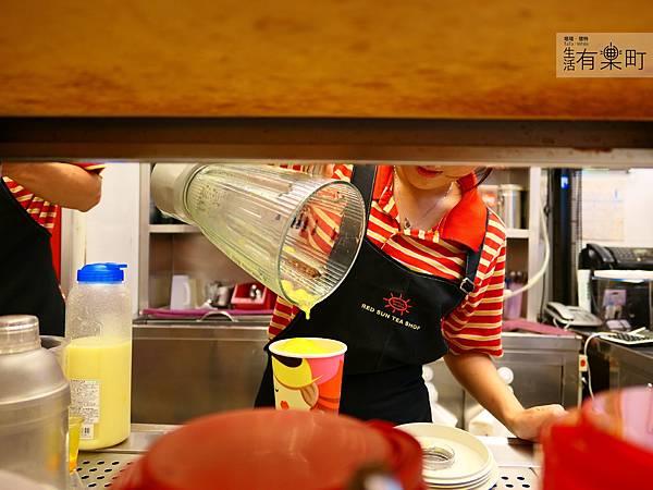 【台北大安】紅太陽茶飲Mr.SUN:南部手搖杯霸主襲來,天然健康彩色珍珠,玫瑰拿鐵太陽特調女孩最愛,近東區SOGO市民大道_P1000436