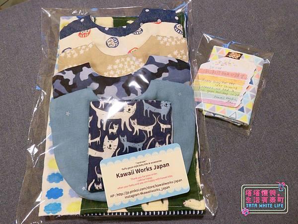 【塔塔懷特育兒好物】日本kawaii work手作八層紗圍兜:口水寶寶必備,吸水力強,雙面都可戴的日系時尚圍兜,我們在PINKOI上買的喔~-1120445.jpg