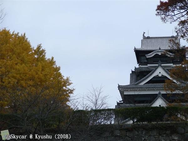 側門遠眺熊本城