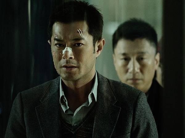 《毒戰》中飾演毒梟的古天樂與飾演緝毒大隊長展開一場危險的兵賊合作