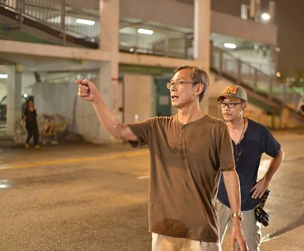 《迷城》導演林嶺東於拍攝現場(2).JPG