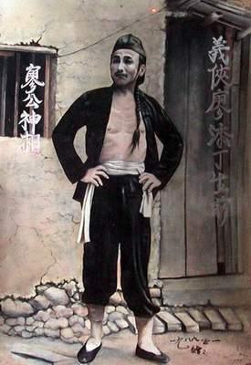 廖添丁廟裡的畫像