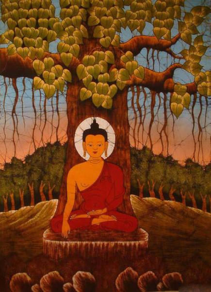 菩提樹下的印度佛祖.jpg
