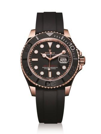 Oyster Perpetual Yacht-Master全新18K永恒玫瑰金黑色錶款