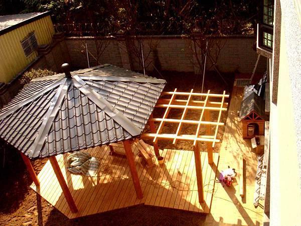 六角涼亭實木結構