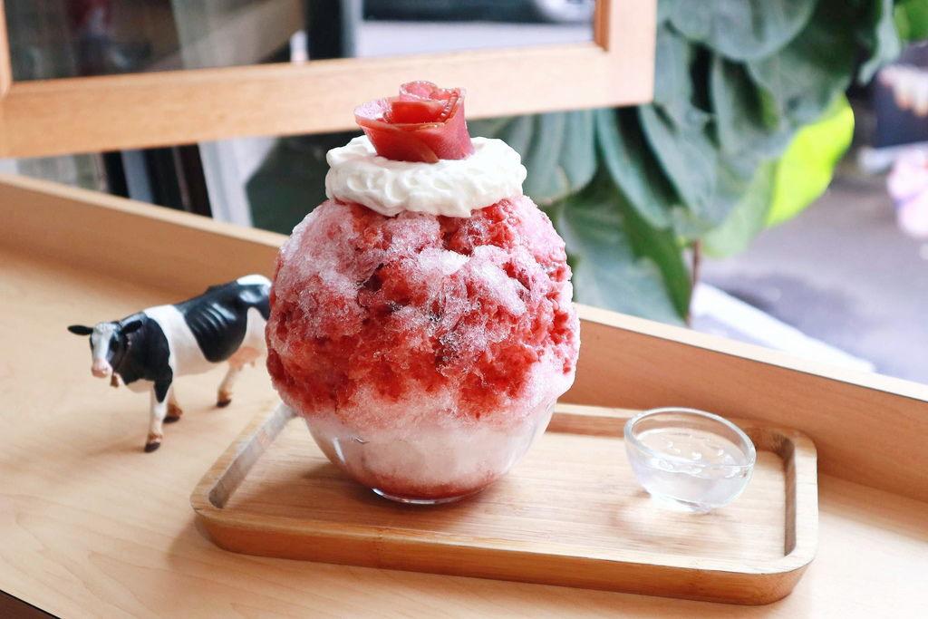【台北東門市場】金雞母Jingimoo:美到讓人心醉的創意冰品 /然花瑰蜜/綠澐抹茶紅豆