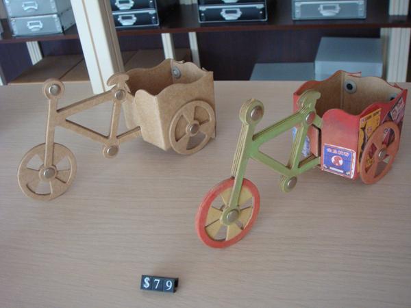 三輪車diy摺紙彩繪
