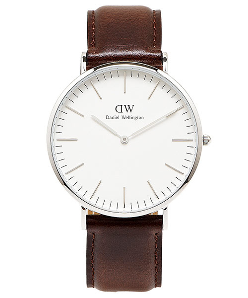 DW Daniel Wellington 經典Bristol 腕錶-白40mm