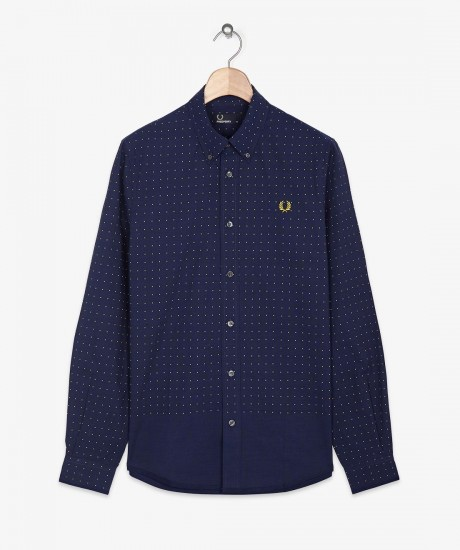 Fred perry Polka Dot End On End Shirt  85磅