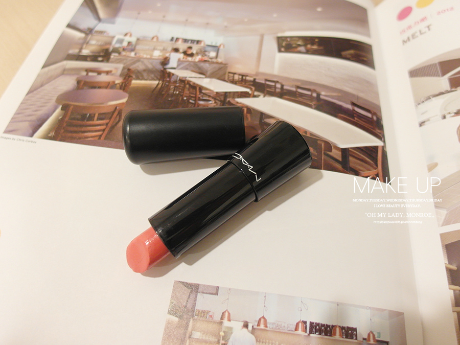 Make up - orange - lipstick - 06 - MAC -  mineralize rich lipstick - style surge